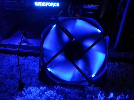 Antec TwoCool 140mm LED blue kuler - 2 brzine