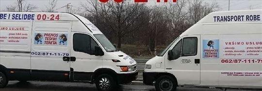 Selidbe-kombi - kamion-bez stresa 0-24h povoljno