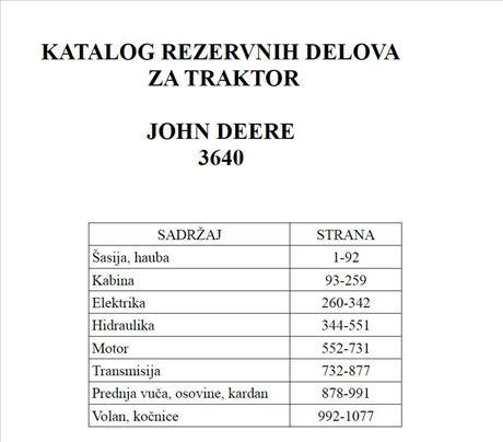 John Deere 3640 - Katalog delova