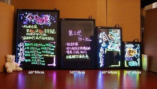 Tabla LED rgb TABLA PISI BRISI +flomasteri led