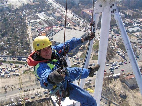 Alpinistički radovi, radovi na visini