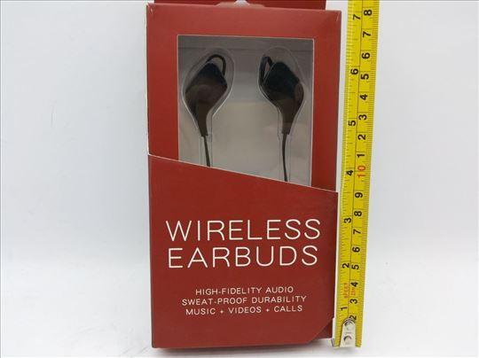 Bluetooth slušalice, crne, nove