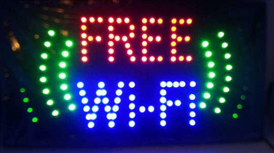 Free WiFi svetleća reklama