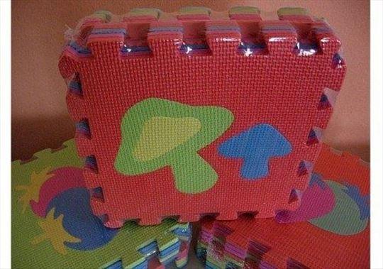 VELIKE podne puzle 4kom -56x56cm-Novo-podne puzle