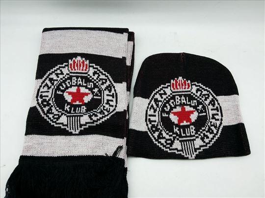 Šal i kapa Partizan novo