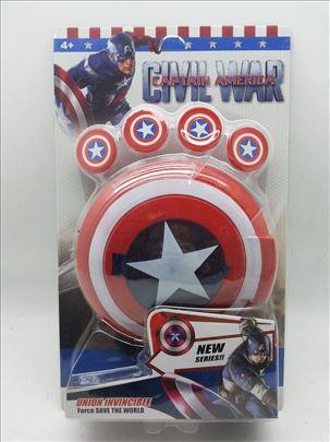 Kapetan Amerika - disk sa zetonima za decu