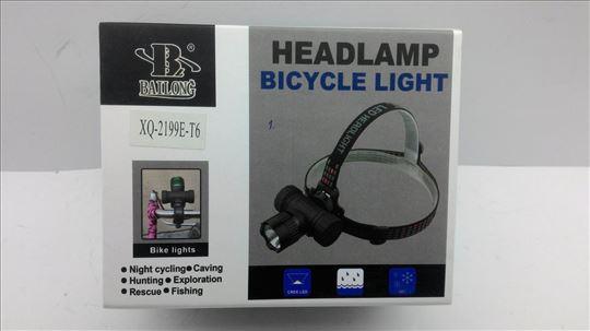 Lampa za glavu i bicikl