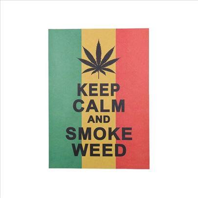 Poster Keep calm and smoke weed