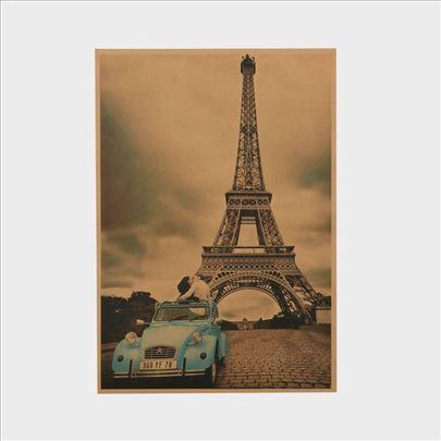 Poster Ajfelov toranj i Citroen