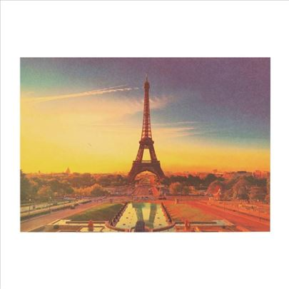 Poster Ajfelov toranj zalazak sunca