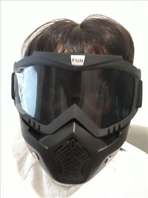 Maska za airsoft, paintball i motor, nova