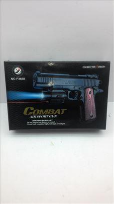 Pištolj sa lampom, laserom i kuglicama