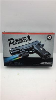 Pištolj sa laserom ,lampom i kuglicama POWER