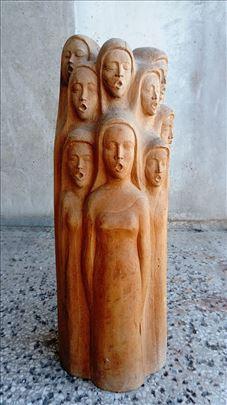 Skulptura u drvetu - Z. M. 1981.