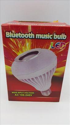 Led bluetooth muzička sijalica zvučnik novo
