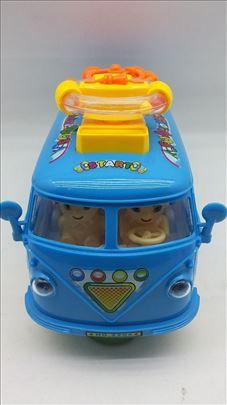 Muzički autobus igračka akcija