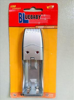 NOV Neotpakovan Bluebaby PUNJAC za Baterije na USB