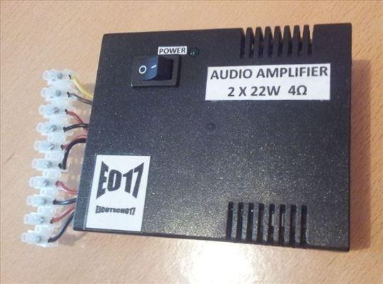 Audio pojačalo snage 2 x 22W na 12V