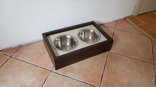 Hranilica za pse sa postoljem od keramike