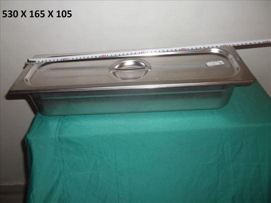 Tacna sa poklopcem za instrumente Inox 530 mm