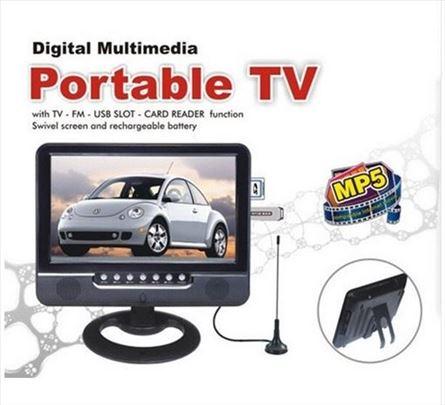 "7.5"" TFT LCD portabl TV - novo"