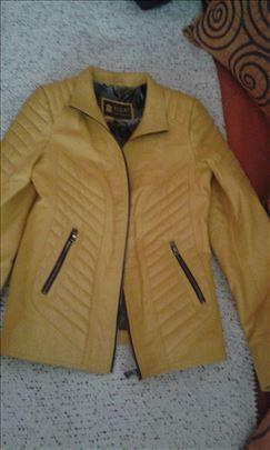 Nova kožna jakna žute boje - povoljno