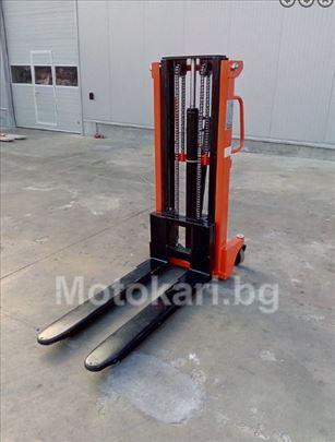 Ručni hidraulični viljuškar 1t na 2 metra-nizak