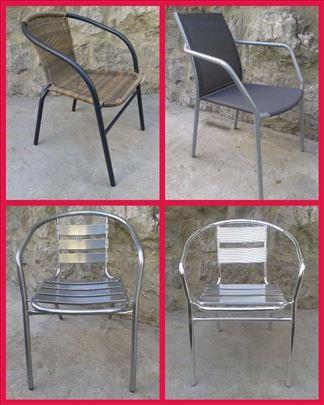 Stolice i stoloviza baštu ratan,čelik,alu,textilen