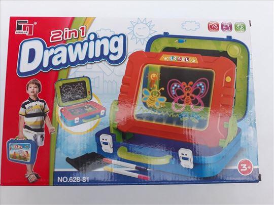 Set za crtanje 2 u 1 igračka