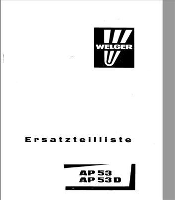 Welger AP 53 - 53D Katalog delova