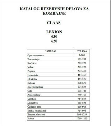 Claas Lexion 630 - 620  Katalog delova
