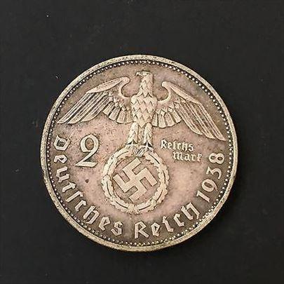 1938 2 Marke, Paul von Hindenburg 1984-1934 silver
