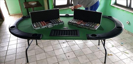 Poker sto i dva kofera sa 500 profi čipova