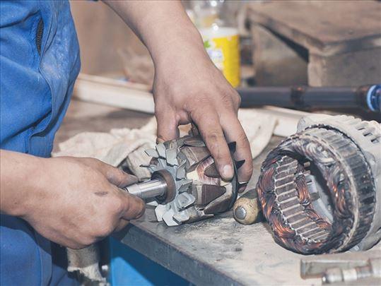 Remont anlasera i alternatora za masine