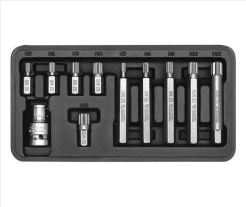Spline ključevi set M5-M12, 11 komada