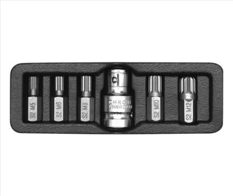 Spline ključevi set M5-M12, 6 komada