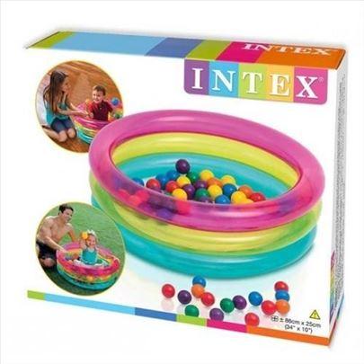 Igraonica za najmladje + 50 raznobojnih loptica