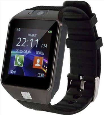Dz09 smart watch pametan sat Crni