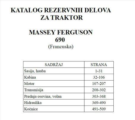 Massey Ferguson 690  (Francuska ) - Katalog delova