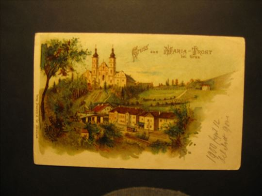 Maria-Trost bei Graz , litografija