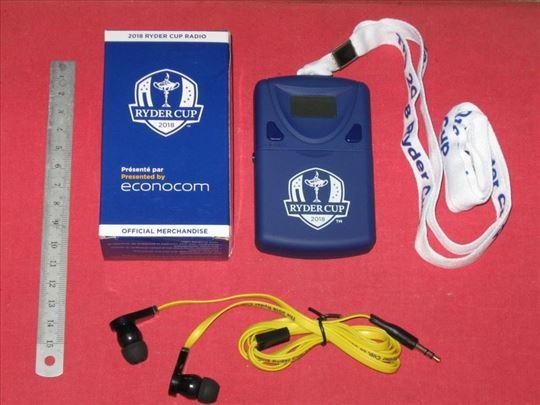 Ryder Cup radio , za praćenje dešavanja u golfu