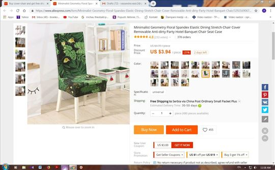 Potpuno nove presvlake za stolice