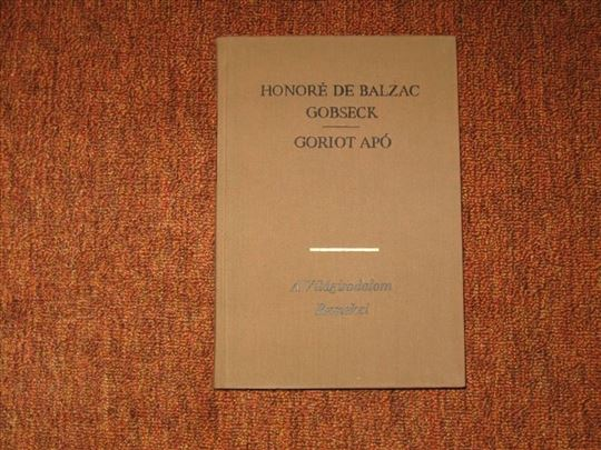 Gobseck <> Goriot apo : Honore de Balzac