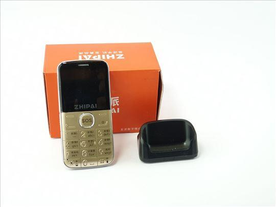 Mobilni telefon Zhipai, zlatni, nov