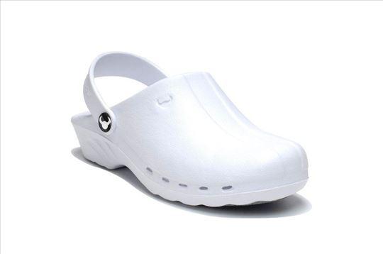Španske medicinske klompe papuče Oden bele