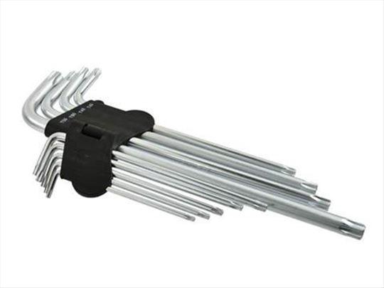 Torex ključevi set T15-T55 mm, 9 komada