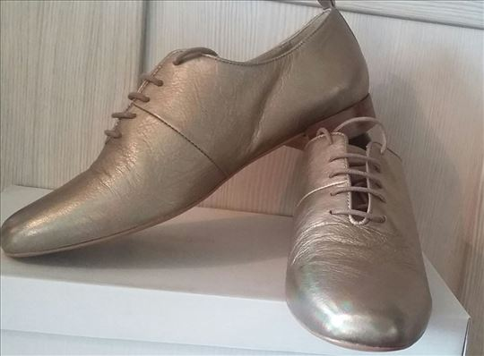 Zlatne cipele Fly London,kožne,nove