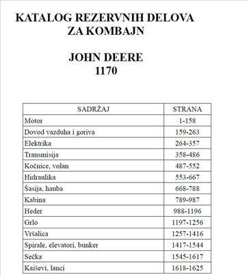 John Deere 1170 - Katalog delova