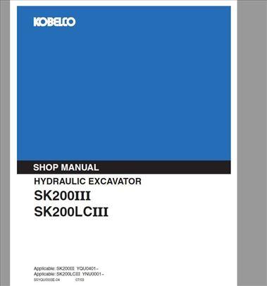 Kobelco SK200 III-SK200LC II Radionički priručnik
