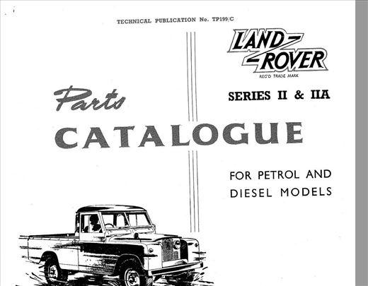 Land Rover II - IIA serija - Katalog delova